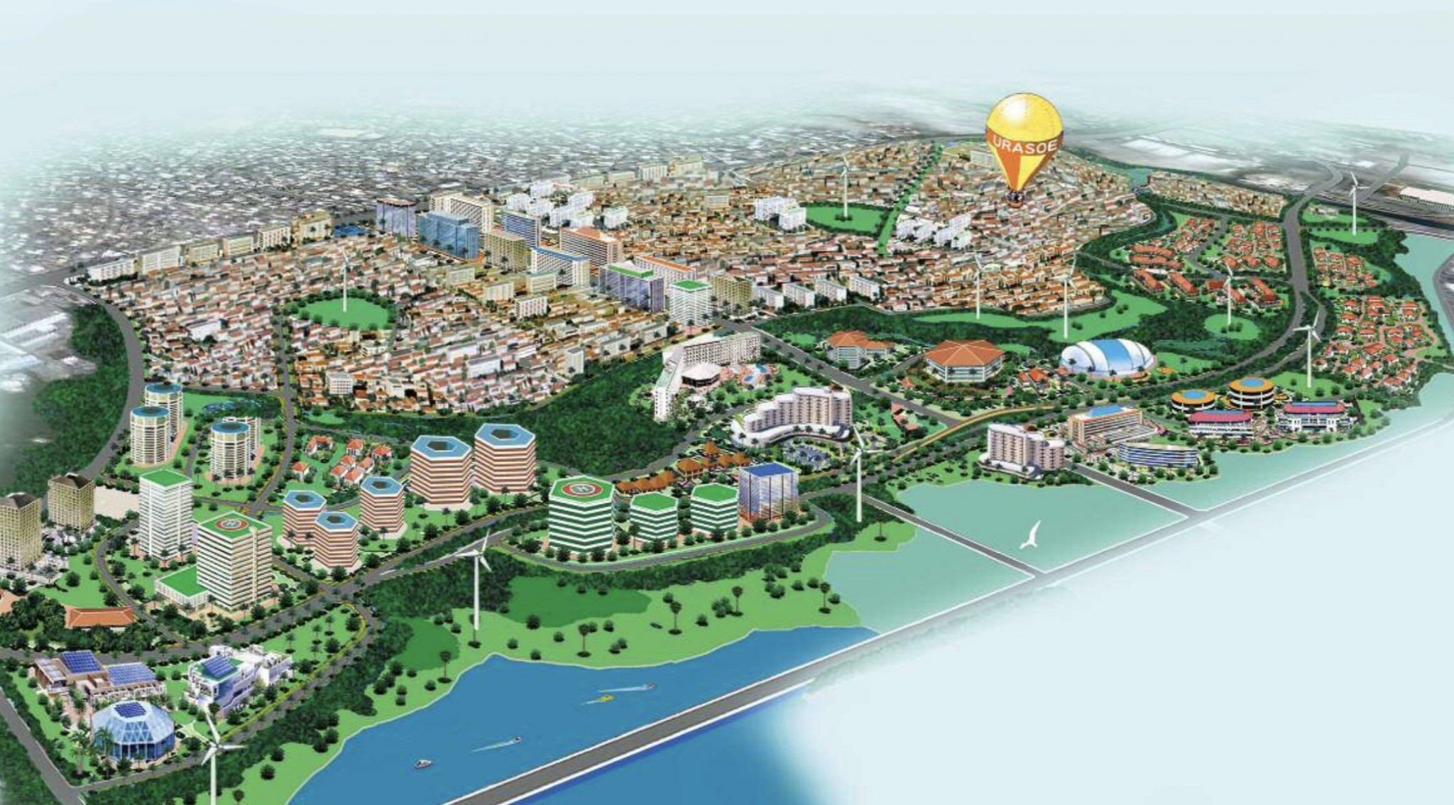 牧港補給地区跡地利用計画イメージ図